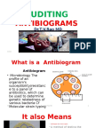 AUDITING ANTIBIOGRAMS by Dr.T.V.RaoMD