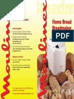 Moulinex Breadmaker Recipe Book