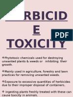 Herbicides toxicity