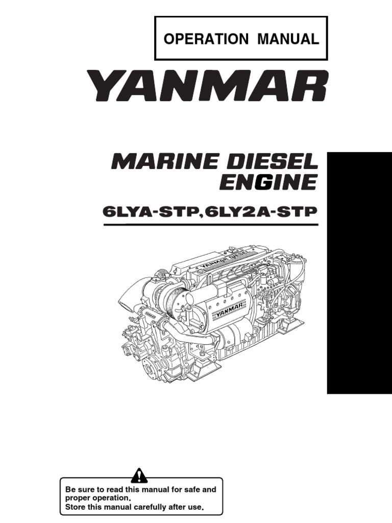 Yanmar Operation Manual Marine Diesel Engine 6lya-Stp,6ly2a-Stp |  Turbocharger | Hvac