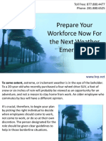 Prepare Your Workforce Now For the Next Weather Emergency