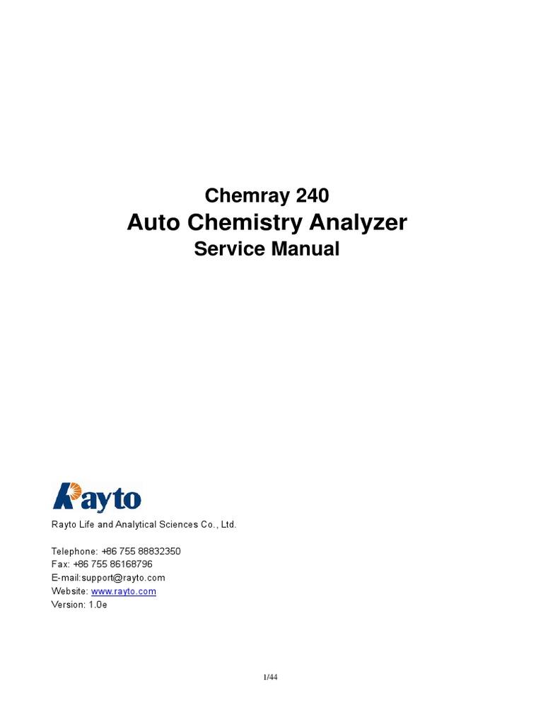 chemray 240 service manual v1 0e power supply amplifier rh scribd com Chemical Reagents Used in Fixation Chemical Reagents Used in Fixation