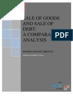 Sale of Goods vs Sale of Debt
