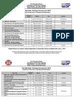 Sprinkler Training Course Listings