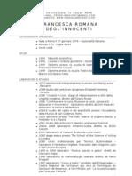 CV Francesca Romana Degl'Innocenti - Italiano