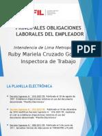 Principales Obligaciones Laborales Del Empleador - Rmcg