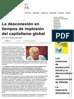 Samir Amin (Entrevista). La Desconexión en Tiempos de Implosión Del Capitalismo Global