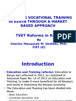Reforming Vocational Training in Kenya Through a Market