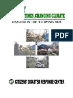 Disaster Statistical Report 2007