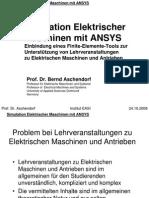 Effet Simulation Elektrischer Maschinen Mit ANSYS