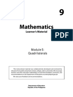 Grade 9 Math Module5 Quadrilaterals