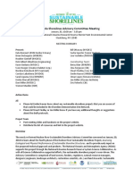 Sustainable Shorelines Advisory Committee Meeting 1/20/16