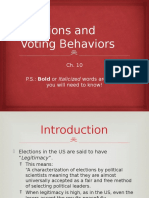 ap ch  10 elections and voting behaviors