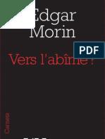 Vers l'abîme ?, d'Edgar Morin