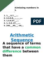 explict formulas arithmetic   geometric