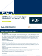 2013 Pan European Private Equity Performance Benchmarks Study Evca Thomson Reuters Final Version