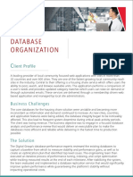 Case Study on Database Optimization - database monitoring and performance program
