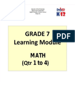 Grade 7 Math Learning Module Q4