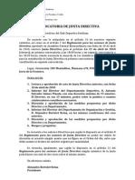Convocatoria Junta Directiva 23-04-2010