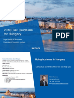2016 Tax Guideline for Hungary