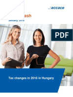 Tax changes in 2016 in Hungary