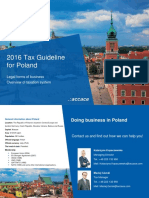2016 Tax Guideline for Poland