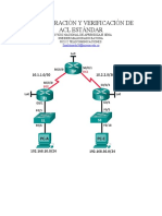 Configuración y Verificación de Acl Estándar
