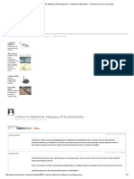 Criteria to Determine Adequacy of Existing Pump - Industrial Professionals - Cheresources