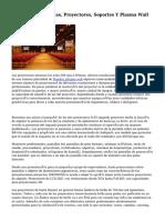 Alquiler De Pantallas, Proyectores, Soportes Y Plasma Wall