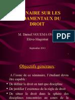 Seminaire Droit Fdmtx