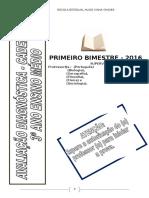 Avaliação Diagnostica 3º Ano Hugo Caderno 2 Portgues