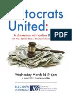 Plutocrats United flyer uc berkeley