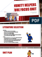 community helpers literature focus unit