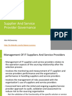 Supplier and Service Provider Governance