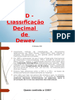 Classificao Decimal de de Medel Dewey