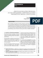 La postura del Tribunal Constitucional peruano respecto al pago de intereses legales en materia previsional