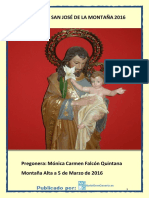 Pregón Fiestas San Jose 2016