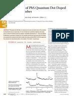 Fabrication of PbS Quantum Dot Doped TiO2 Nanotubes