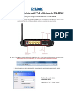 Configuración de Internet PPPoE y Wireless Del DSL-2730E