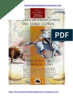 Feria Toro Coria 2016-Ingles