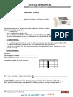 Cours - Génie Électrique LOGIQUE COMBINATOIRE - 3ème Technique (2013-2014) Mr Khalouaoui HASSEN