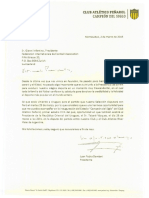 Invitación de Peñarol al presidente de la FIFA, Gianni Infantino