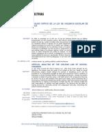 Análisis Crítico de La Ley de Violencia Escolar de Chile (2012)