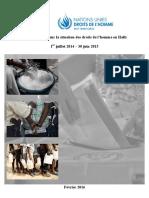 Rapport Annuel sur La situation des Droits de l'Homme en Haïti - 1 Juillet 2014 - 30 Juin 2015