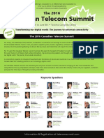 The 2016 Canadian Telecom Summit Brochure