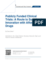 Publicly Funded Clinical Trials