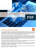 Uso de Internet en El Perú