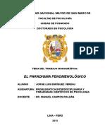 El Paradigma Fenomenológico-trabajo Monográfico-jorge Enríquez-03jul15