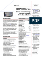 Woodward Synchronizing Module Spec GCP30