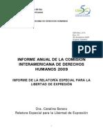 Informe Anual Relatoria Libertad Expresion 2009